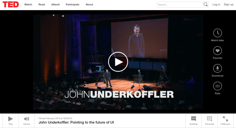 Pondering the Future of UI - John Underkoffler