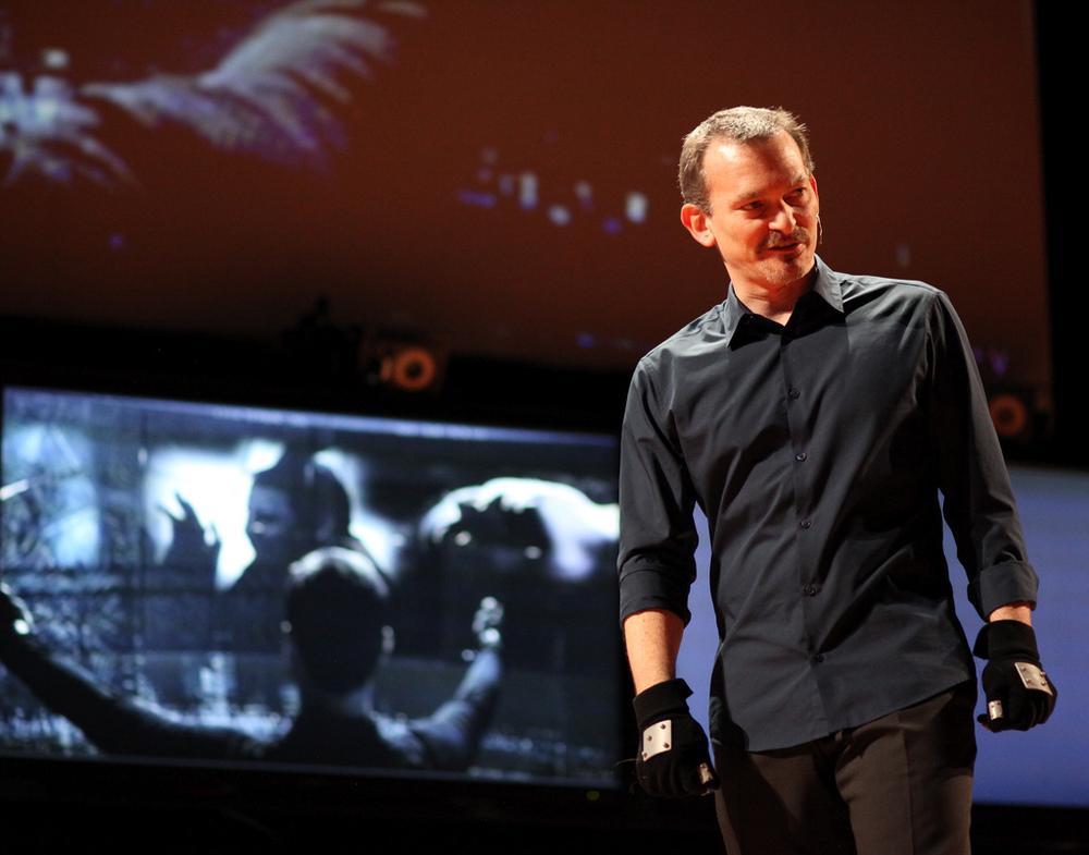 John Underkoffler at TED - Courtesy Steve Jurvetson
