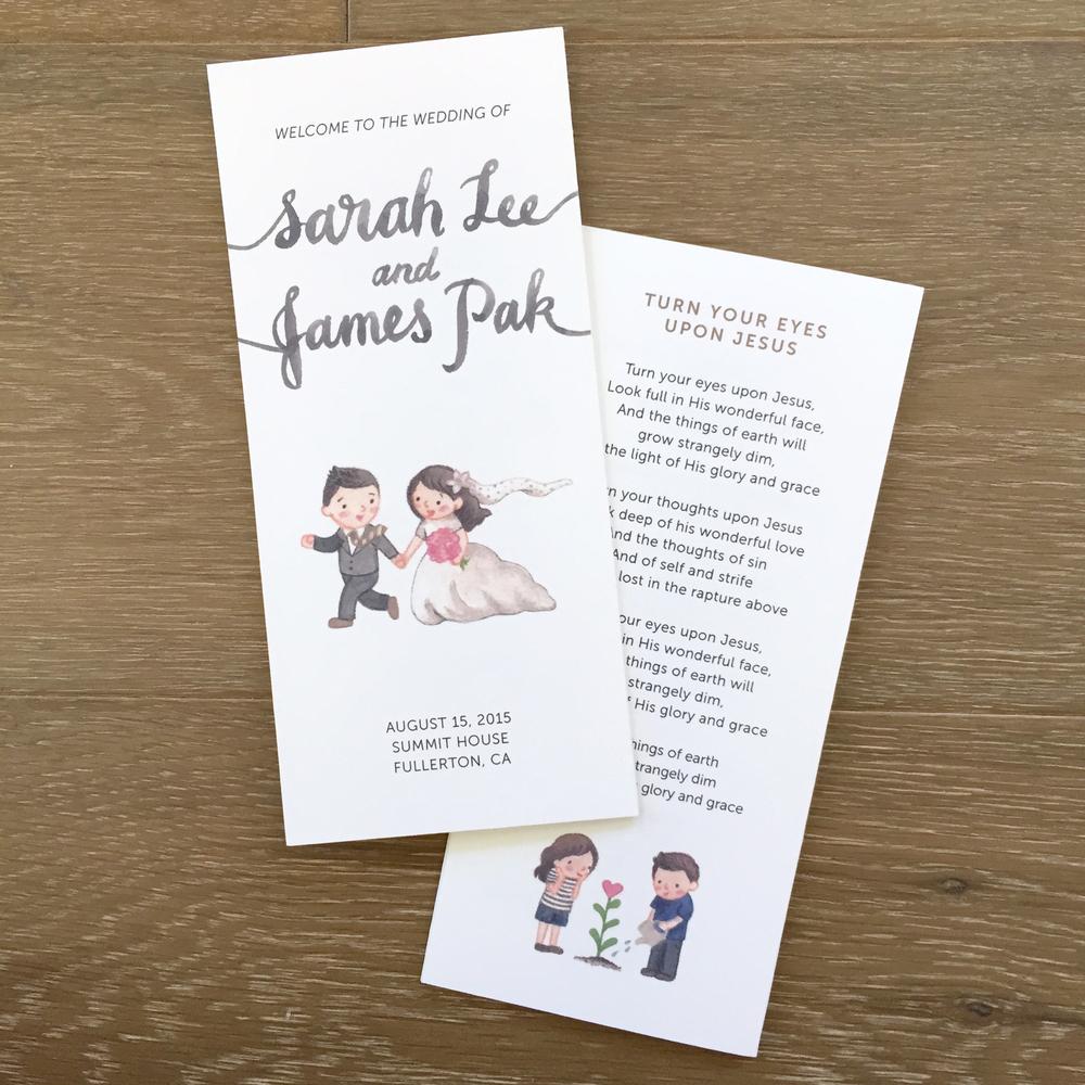 J&S Wedding Invitation Suite — Little Seed Studio