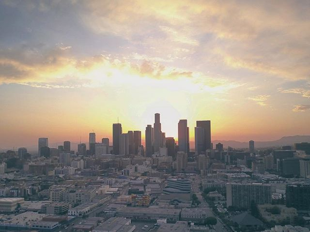 DTLA's skyline serving the backdrop to Rachel + Jason's wedding last night. More to come... #DJI #Mavic #DTLA #ArtDistrict #AnyEveryPro