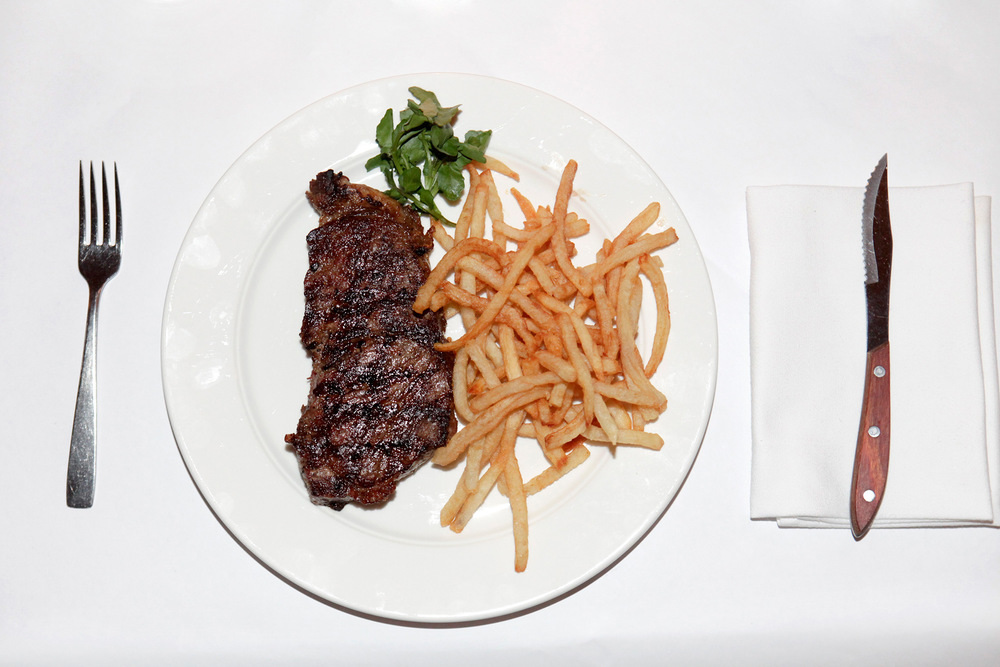 Strip Steak Frites at The Odean