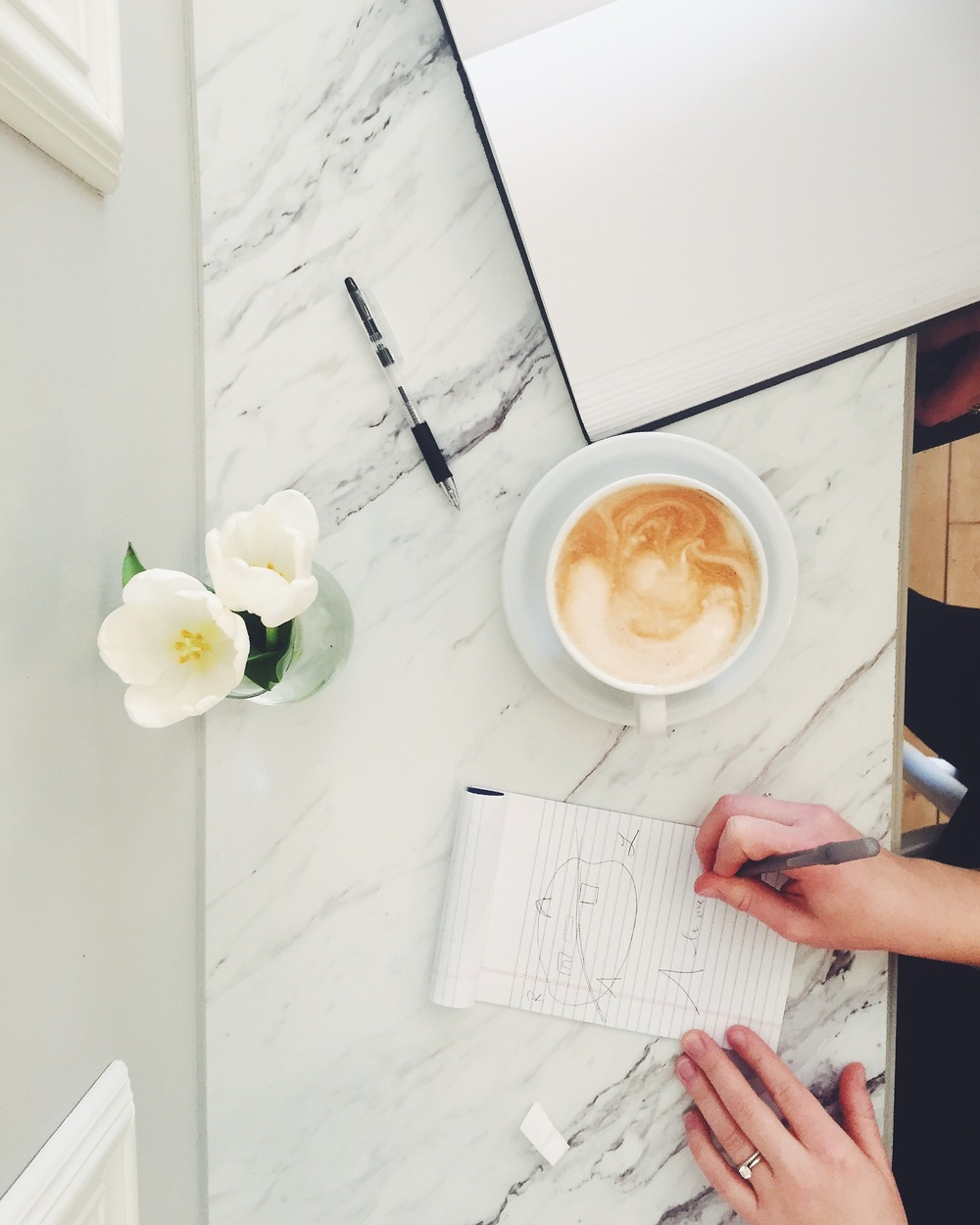 behind the scenes, design planning