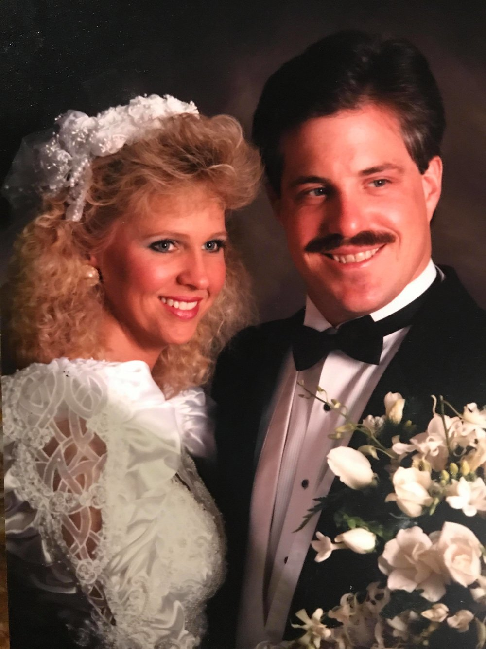 80's wedding photo
