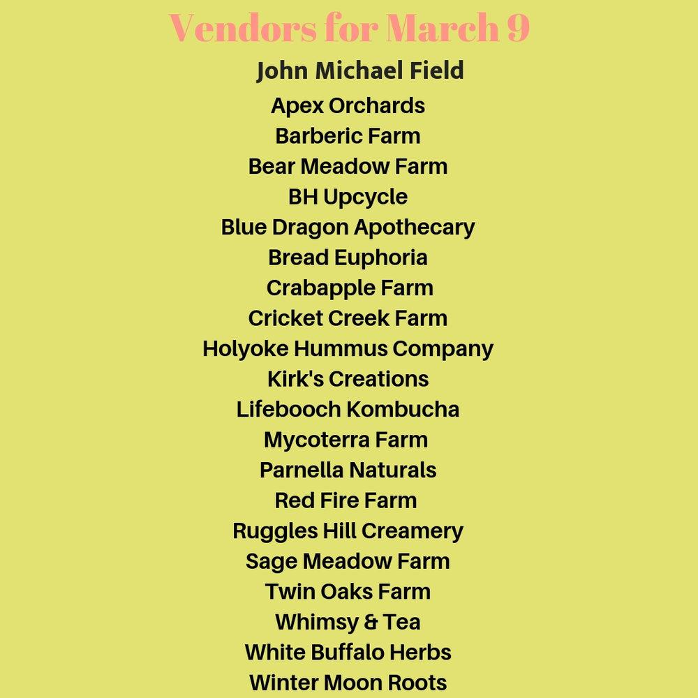Apex OrchardsBarberic FarmBarden's GardensBlue Dragon ApothecaryBear Meadow FarmBread EuphoriaCrabapple FarmCricket Creek FarmDavenport FarmHolyoke Hummus CompanyKirk's CreationsLifebooch KombuchaMayval  (9).jpg