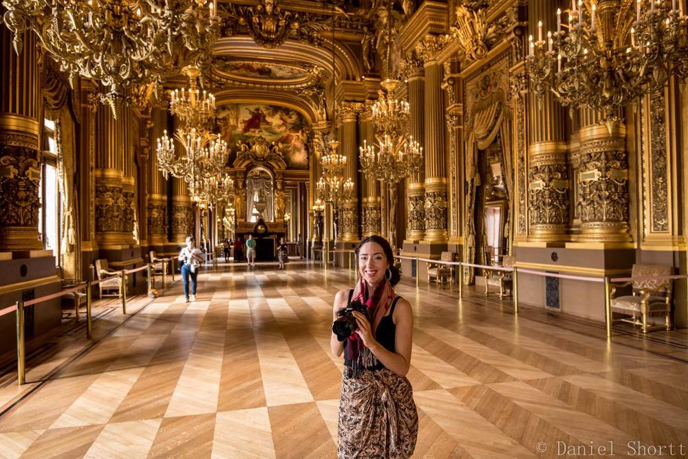 Me inside the Grand Foyer at the Opera Garnier.
