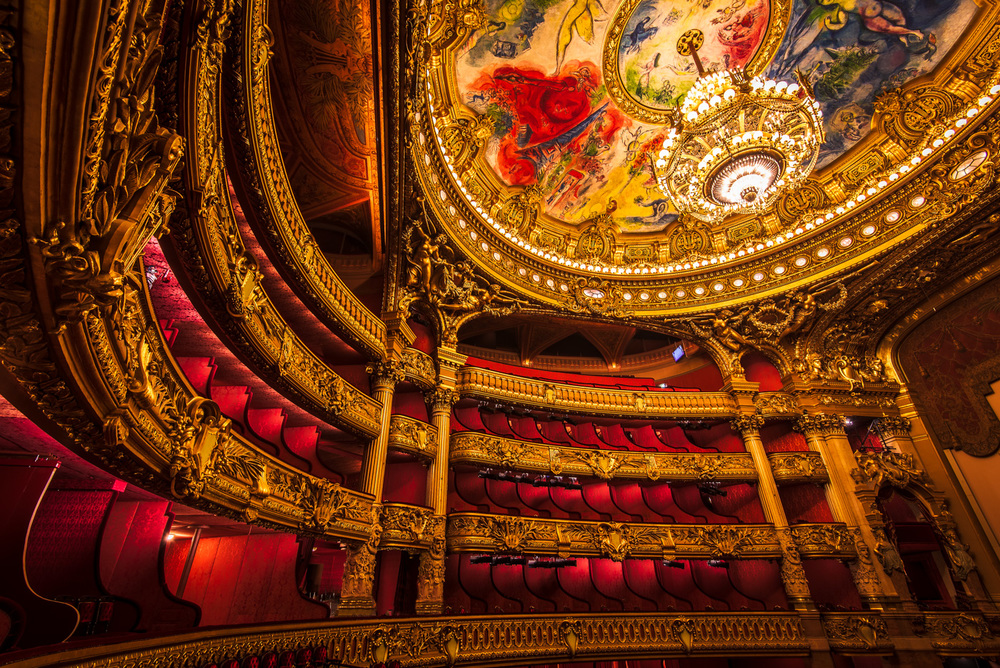 The Opera Theatre at Opera Garnier, Paris.