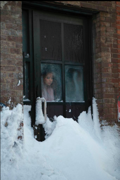 Ext. Alec's Apartment Snow