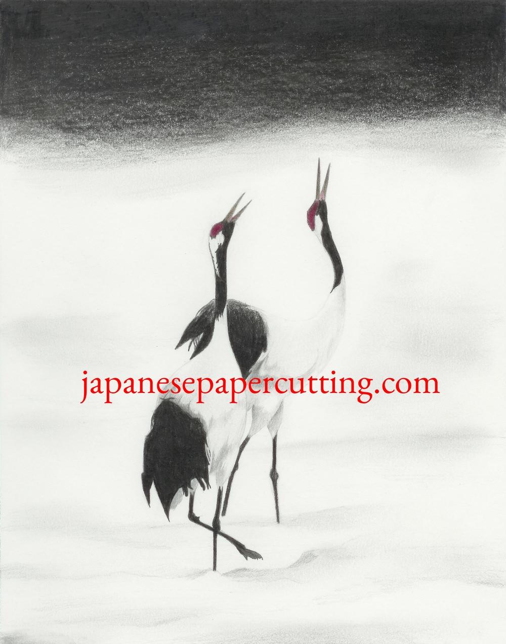 Cranes | Pencil & Pencil Crayon | 2004