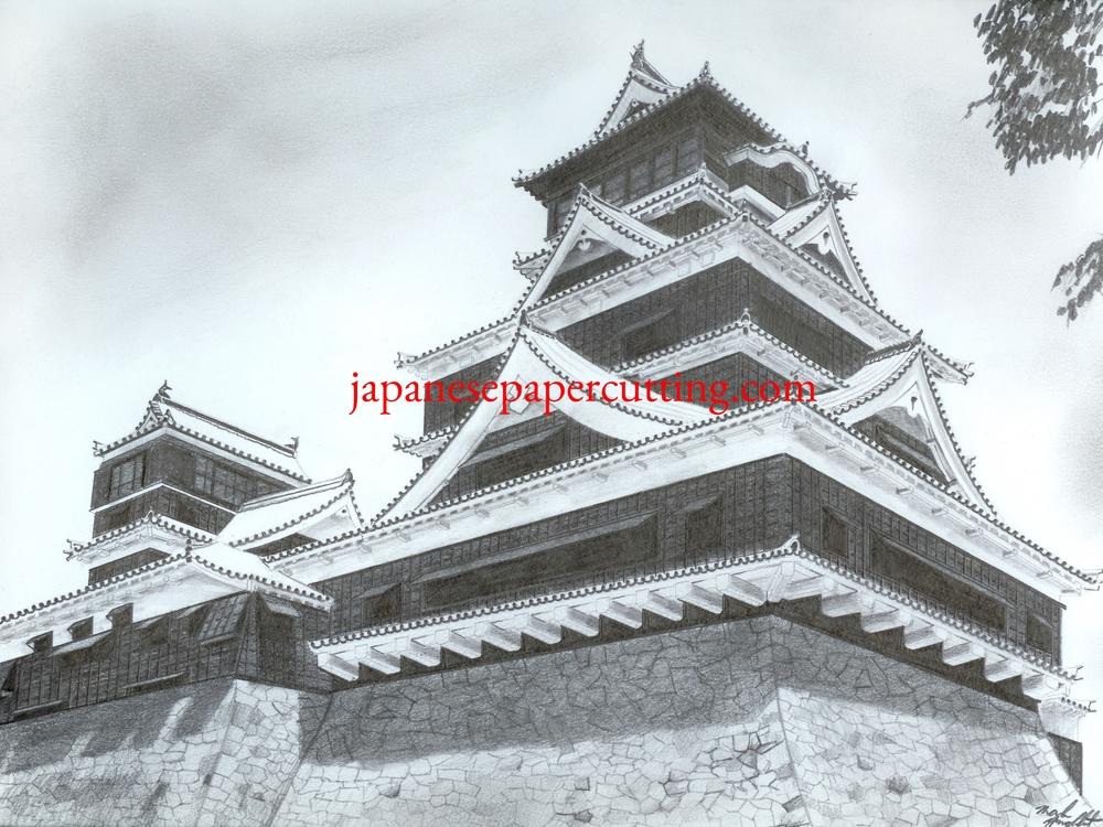 Kumamoto Castle | Kumamoto, Kumamoto, Japan | Pencil | 2003