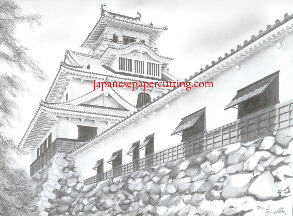 Nagahama Castle | Nagahama, Shiga, Japan | Pencil | 2004