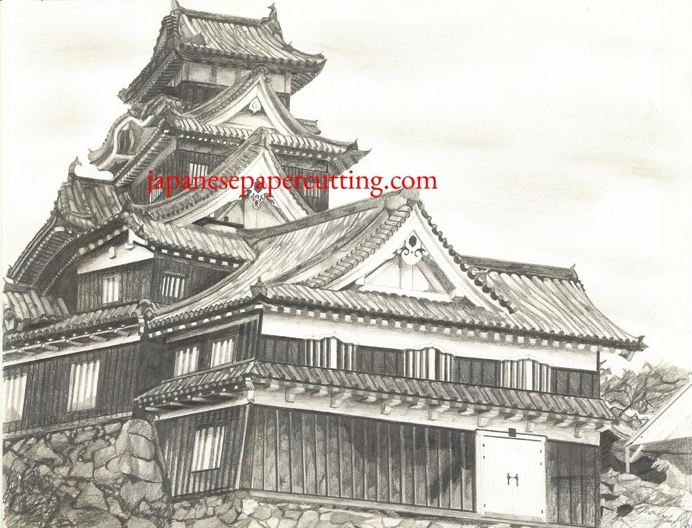 Okayama Castle | Okayama, Okayama, Japan | Pencil | 2000