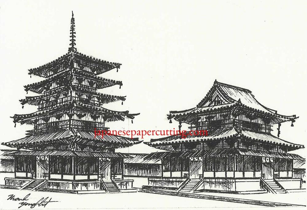 Horyuji II | Ikaruga, Nara, Japan | Ink | 2003
