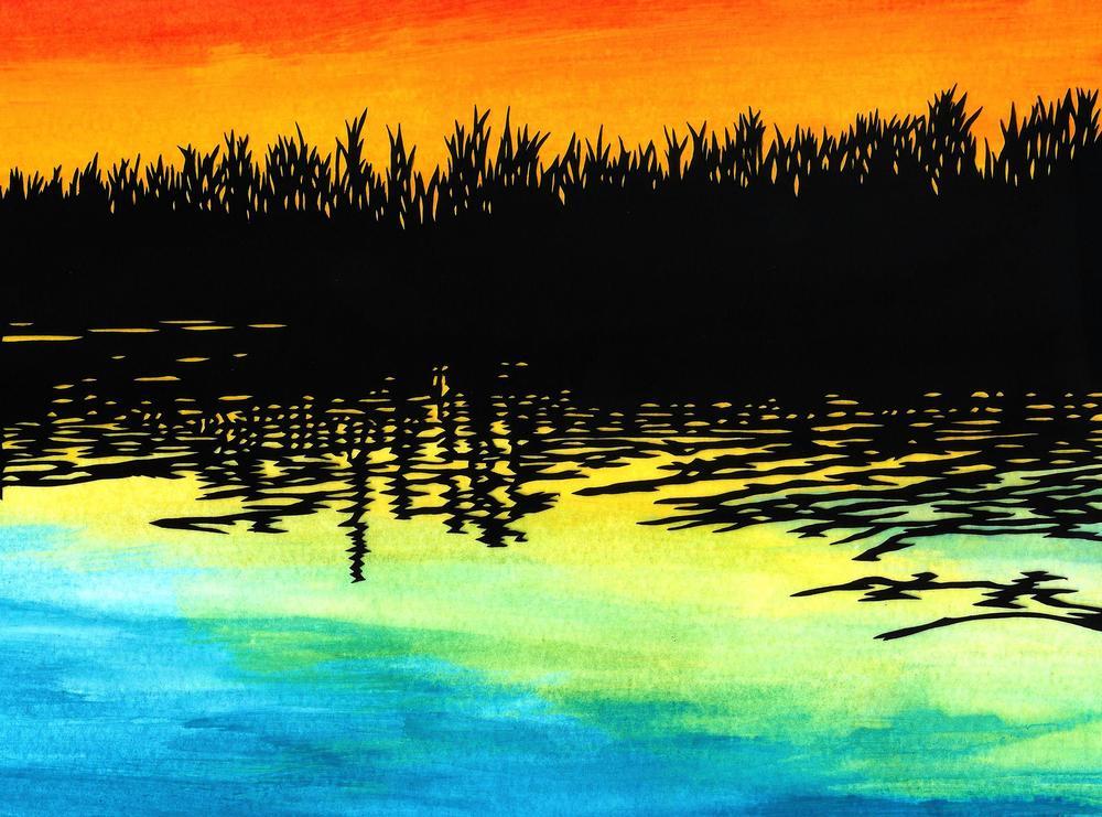 Sunset on Lake (2015)