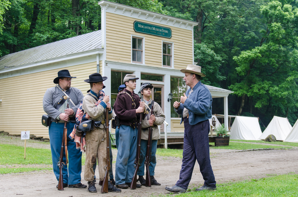 It's easy to find yourself transported into the middle of a Civil War encampment at Heritage Village In Sharon Woods