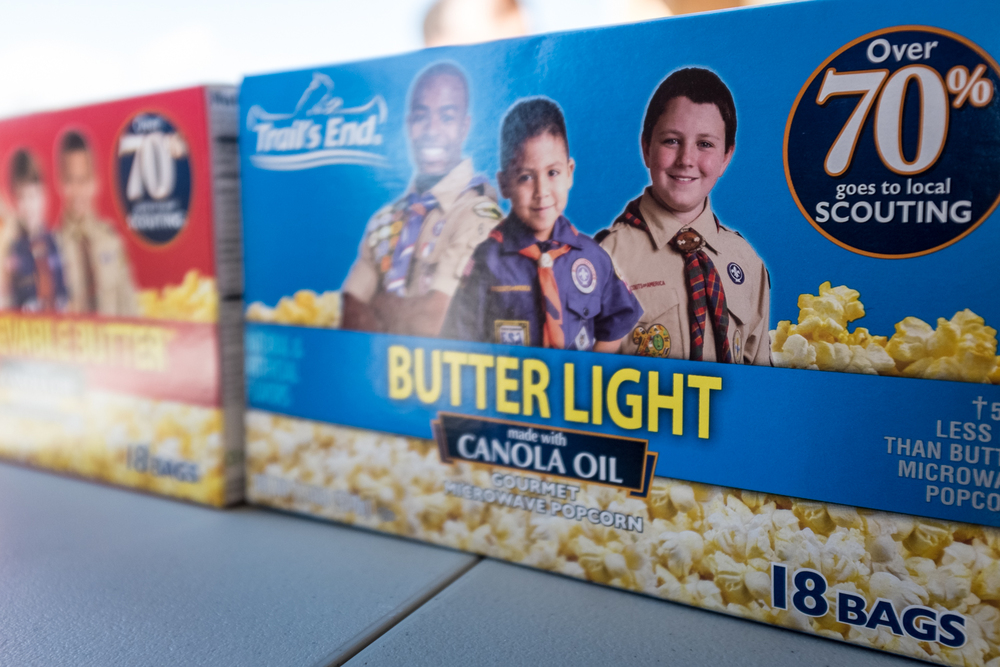 Popcorn that fuels the Boy Scouts of America