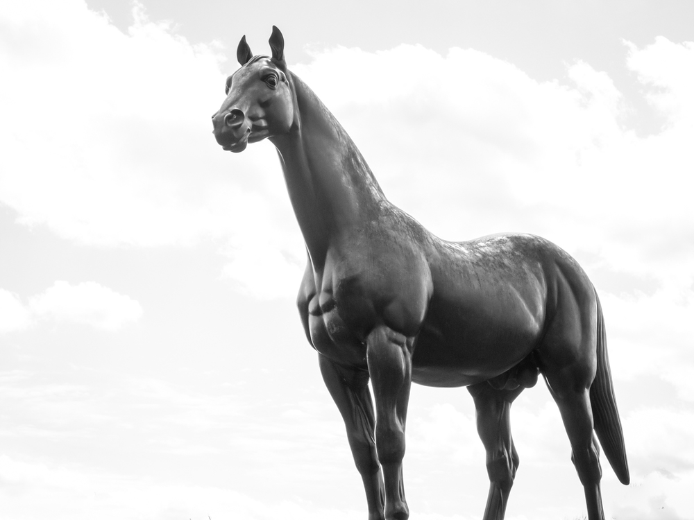 Man O' War statue at the Kentucky Horse Park, Lexington, Kentucky
