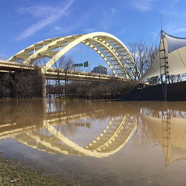 Soggy Big Mac #flood #igers #iphone #igdaily #igmasters #cincy #cincyusa #cincyigers #cincinnati #wcpo #wlwt