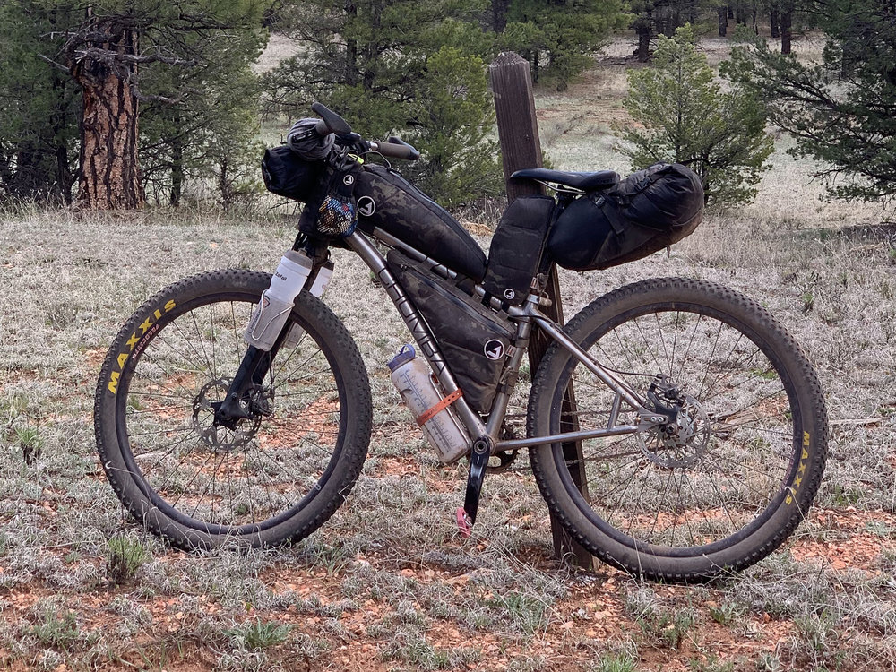 Josh's Arizona Trail Race ready Stella Titanium 27plus custom build.