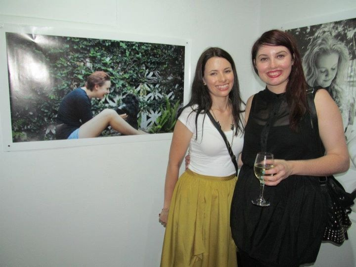 Alana Barns (Scar Stories member) & Eleanor Banks (Treasurer) celebrate the first Scar Stories exhibition at Bleeding Heart Gallery, Brisbane