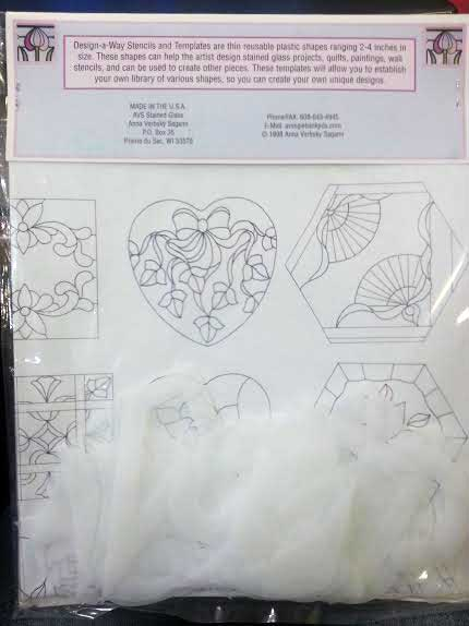 Design A Way Stepping Stone Shapes Stencil Kit The Glass Garden Llc