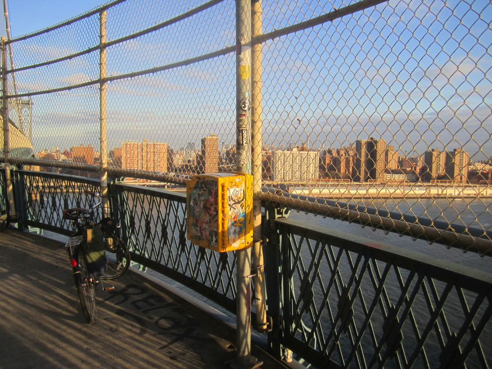 Manhattan's Lower East Side from the Manhattan Bridge over the East River
