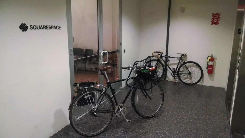 Where my bike keeps warm.