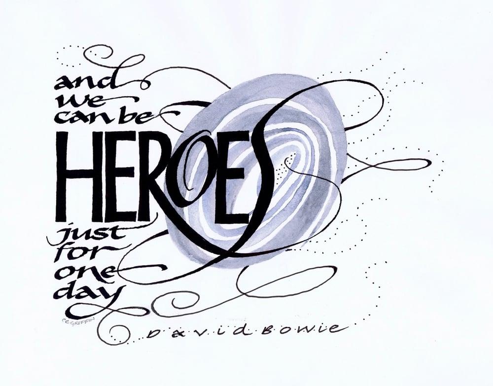Heroes, watercolor, ink on paper, 2016