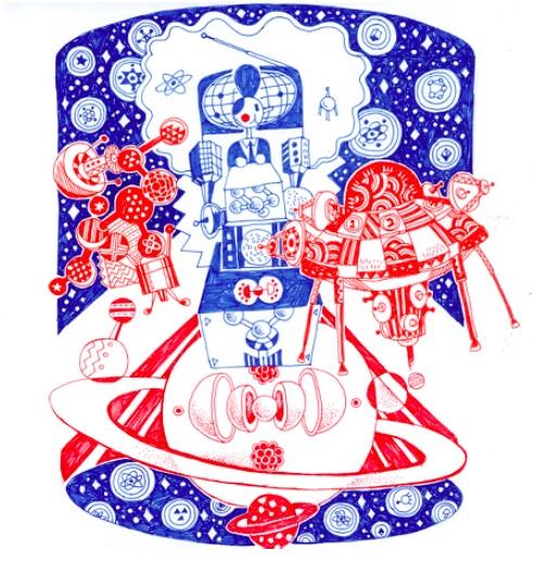 Red & Blue Illustration 2007-2011