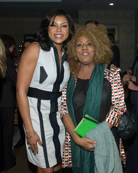 Taraji P. Hensen (L) with Lapacazo Sandoval (R). The Crosby Hotel.
