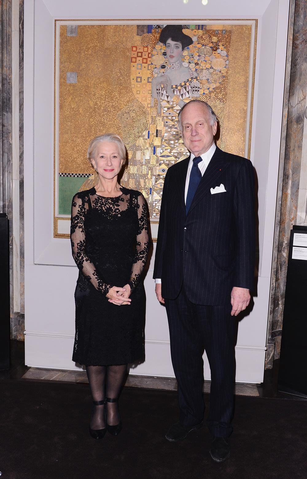 Helen Mirren and Ronald Lauder