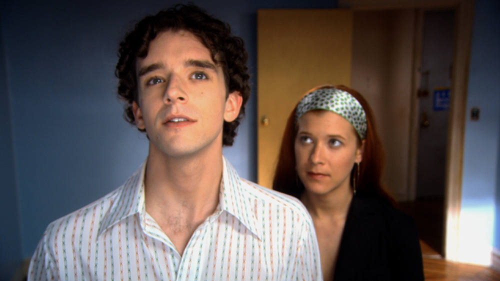 Michael Urie and Elizabeth Kapplow in WTC View. Courtesy of Brian Sloan.
