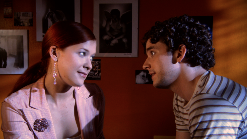 Elizabeth Kapplow and Michael Urie in WTC View. Courtesy of Brian Sloan