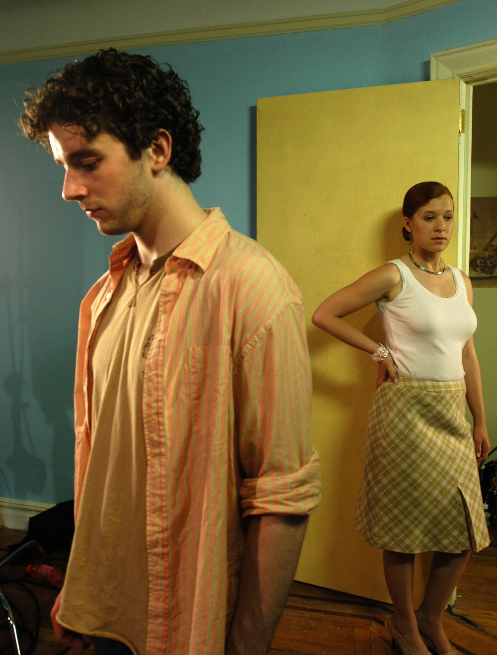 Michael Urie and Elizabeth Kapplow in WTC View. Photo by John Langford. Courtesy of Brian Sloan