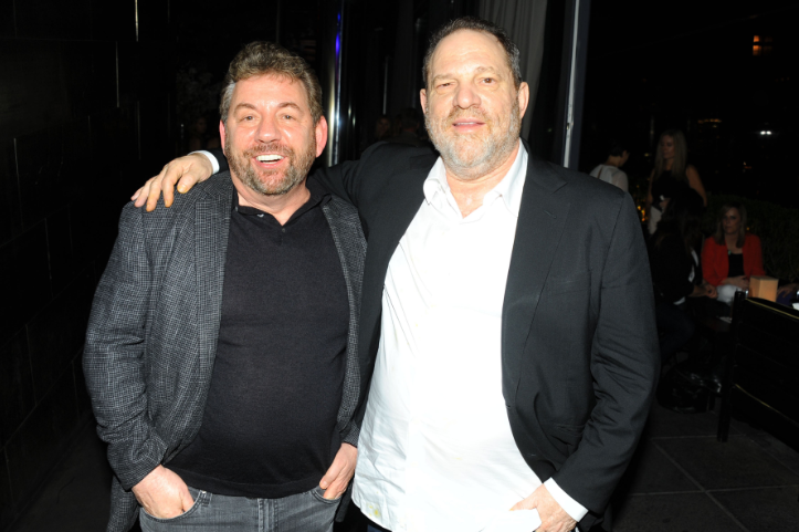 James Dolan and Harvey Weinstein at the official private after party for Meadowland at PHD in NYC hosted by Bombay Sapphire Gin