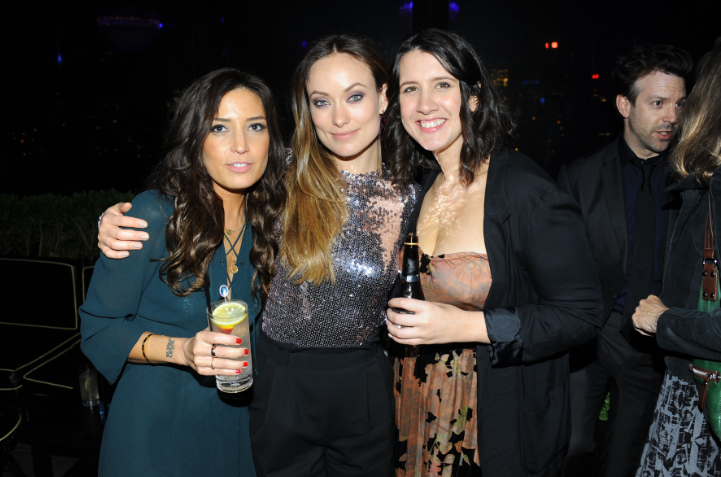Reed Morano, Olivia Wilde, Margot Handat the official private after party for Meadowland at PHD in NYC hosted by Bombay Sapphire Gin
