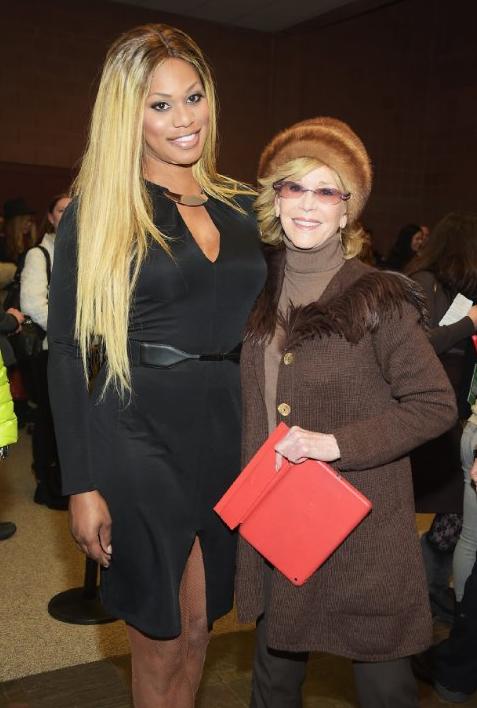 Jane Fonda and Laverne Cox at event of Grandma (2015)