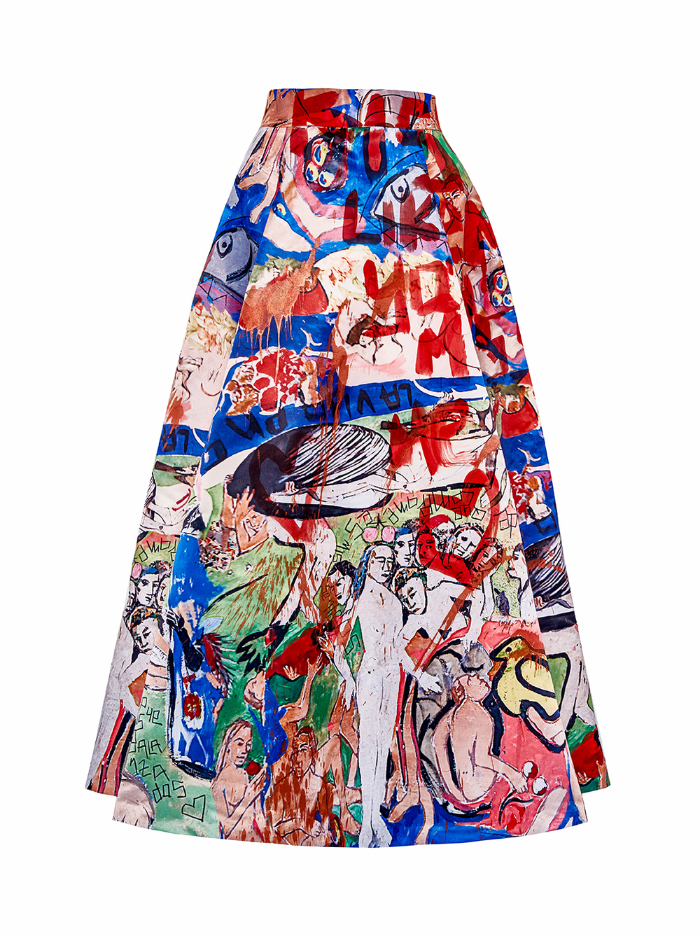 ZAPATA alice + olivia Ball Skirt Hand-Painted By Domingo Zapata, 2015