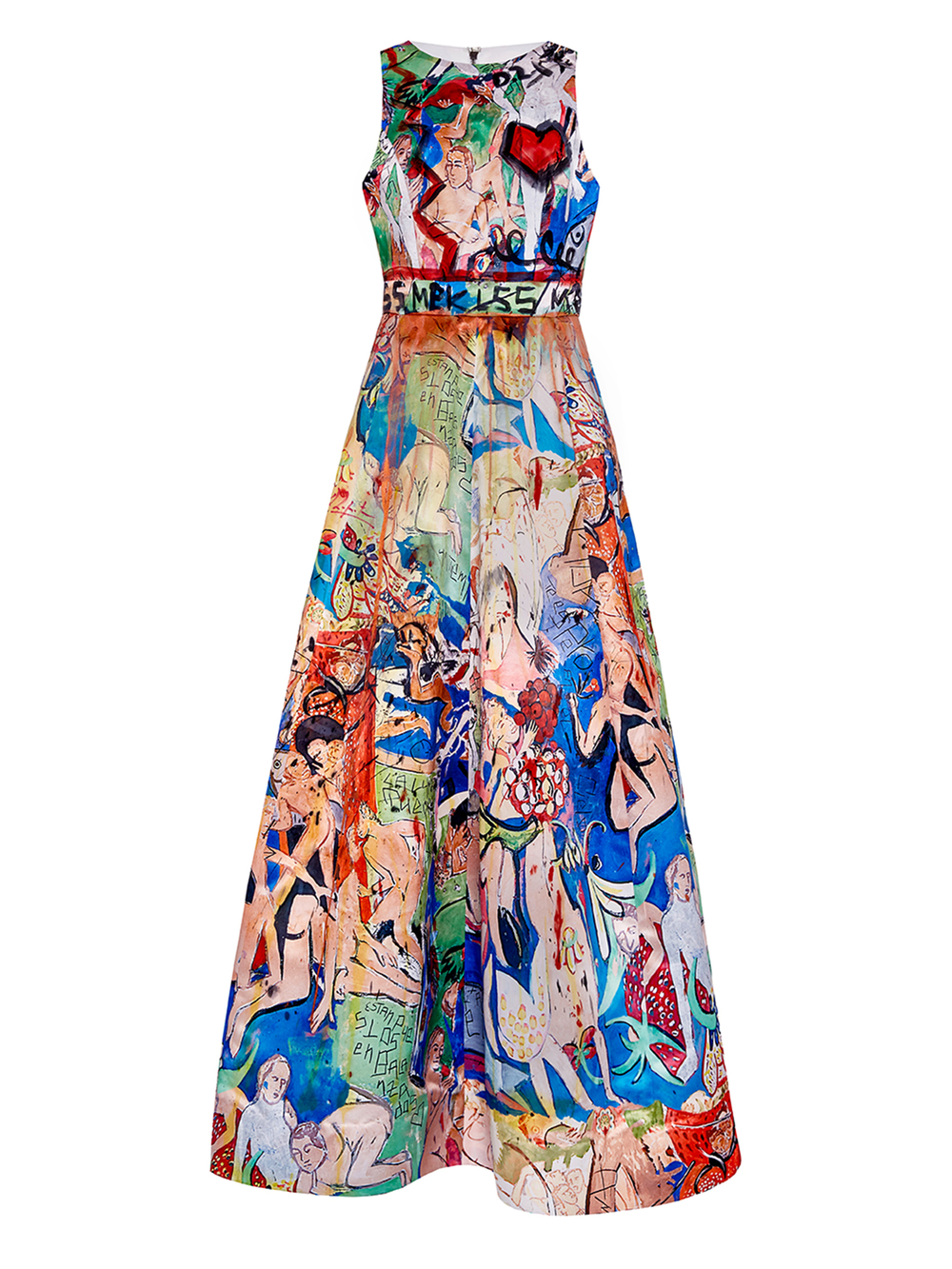DOMINGO ZAPATA -   alice + olivia Gown Hand-Painted By Domingo Zapata , 2015