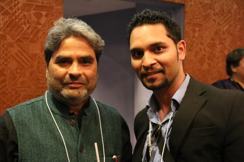 Vishal Bharadwaj (L) with Art Shrian (R)