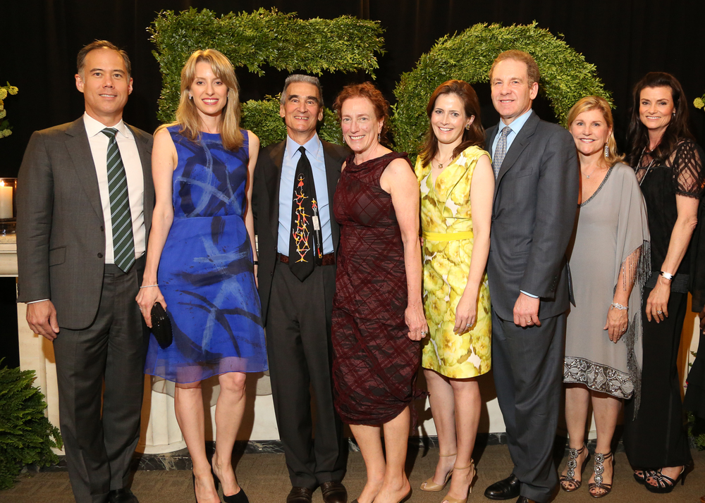 (From L-R) Event Chairmen Tom and Benan Ellis, Bud Shulman and Amy Newman, Joyce and Robert Giuffra, Susan R. Kessler, and Liz Armstrong
