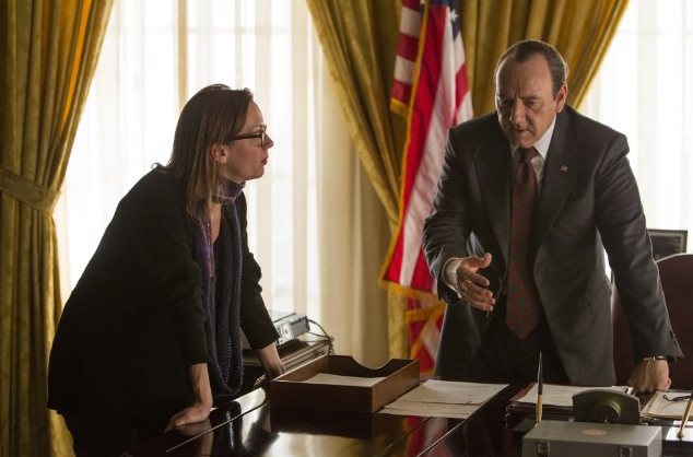 Still of Kevin Spacey and Liza Johnson in Elvis & Nixon (2016)