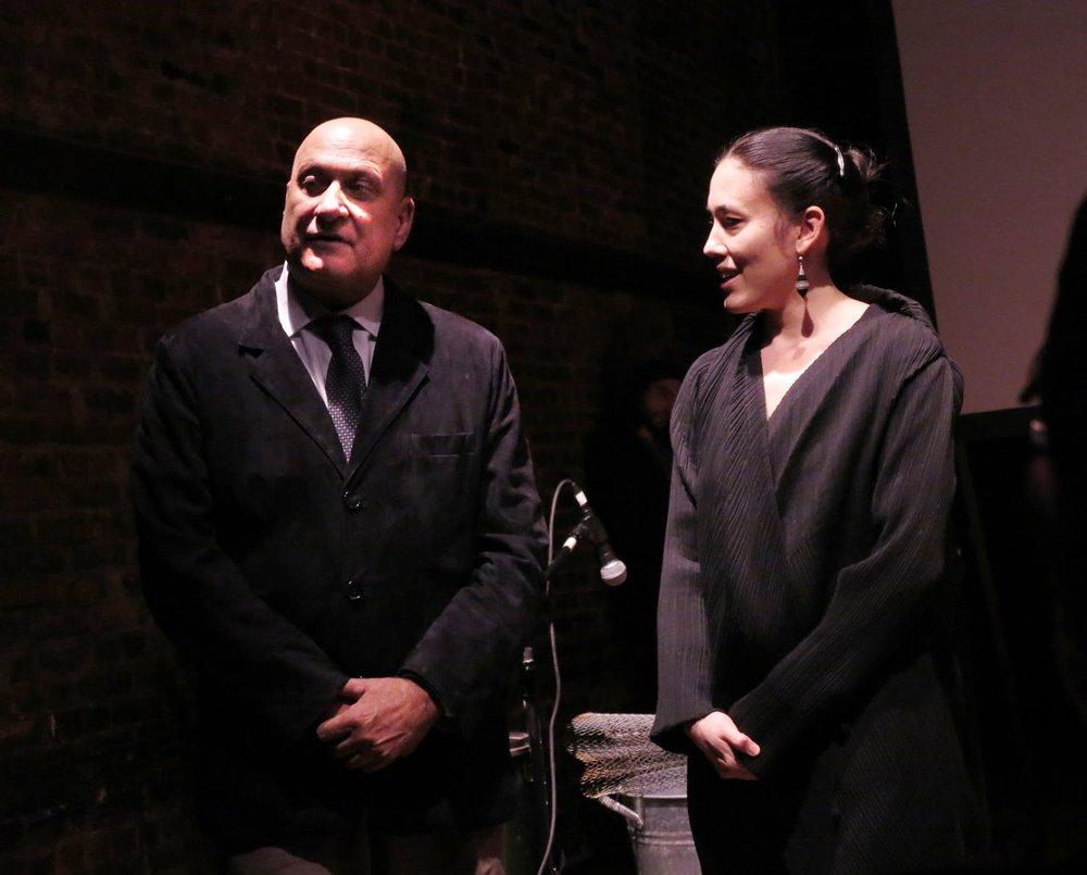 Dario D'Ambrosi, founder of Teatro Patologico, and Mis Yoo, Artistic Director of La Mama