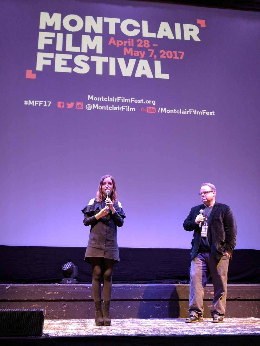 Zoe Lister-Jones, with festival Executive Director Tom Hall