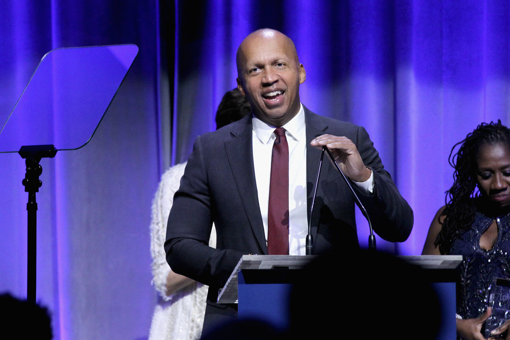 Honoree Bryan Stevenson speaks onstage at the NAACP LDF 32nd National Equal Justice Awards Dinner at The Ziegfeld Ballroom on November 1, 2018 in New York City. (Photo by Bennett Raglin/Getty Images for NAACP LDF)