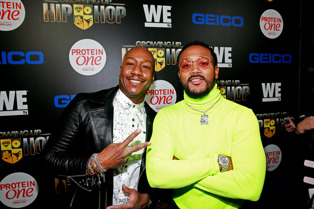 "TV personality Dr. Ish (""Marriage Boot Camp"") and Romeo Miller attend the ""Growing Up Hip Hop"" season 4 party on December 4, 2018 at Avenue in New York City. (Photo by Bennett Raglin/Getty Images for WE tv)"