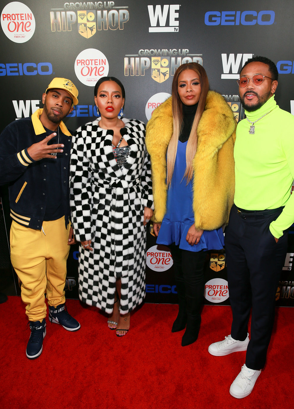 "(L - R) ""Growing up Hip Hop"" cast members Jojo Simmons, Angela Simmons, Vanessa Simmons, and Romeo Miller attend the season 4 launch party on December 4, 2018 at Avenue in New York City. (Photo by Bennett Raglin/Getty Images for WE tv)"