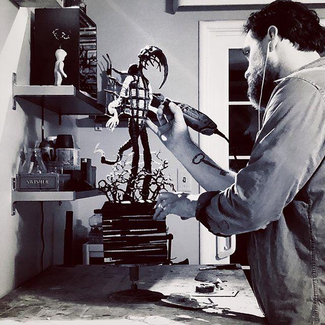 Keeping myself sane is the work #studio #sculpture  #art
