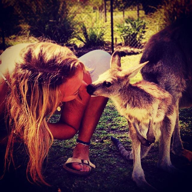 From my first visit to Australia back in 2012 I fell in love with the magic that exists in the land, the people and the animals. This is when bonaroo met kangaroo and this baby Joey was sooooo sweet!! It's so nice to have found a place where I can call home (amongst many homes in the world) and to be building community and a studio. It warms my heart to be flying back to the land of 🐨 and my 🐶 and to be able to nestle into life there for a few months.  Sometimes the things we never consider or we think are impossible arrive with grace when the heart is open with gratitude 🙏  #dailysadhana #soulutionyoga @soulutionyoga