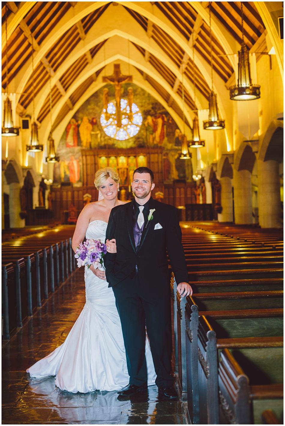 Formal wedding photo at st. margaret mary church omaha, ne