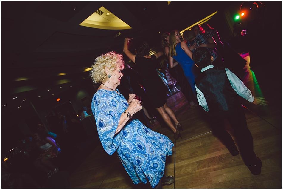 Grandma on the dance floor at Scott Conference Center Omaha, NE wedding reception